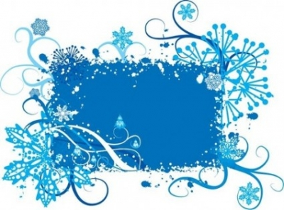 Free vector Vector floral  Blue Snowflake and Floral Background Vector Graphic