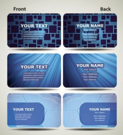 Free vector Vector misc  blue technology business card template 02 vector