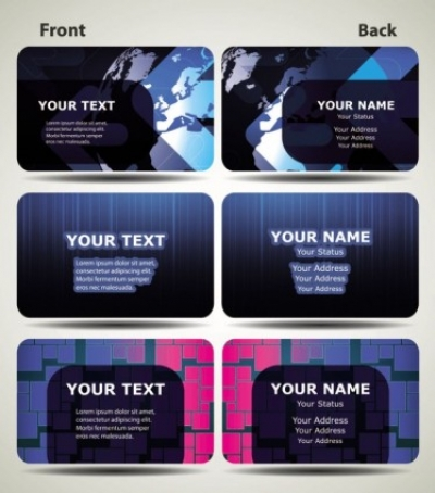 Free vector Vector misc  blue technology business card template 03 vector
