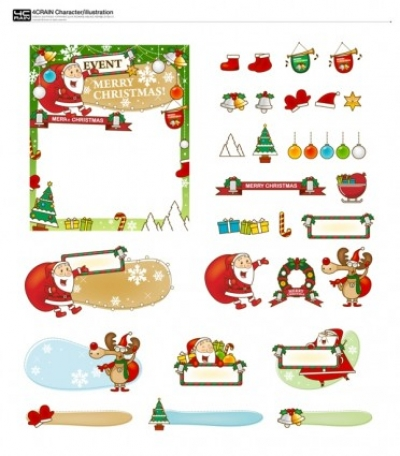 Free vector Vector Christmas  bookmark and christmas gifts vector