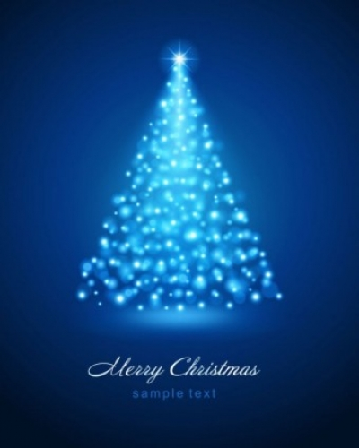 Free vector Vector background  bright christmas background 01 vector