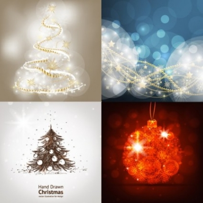 Free vector Vector background  bright christmas background vector