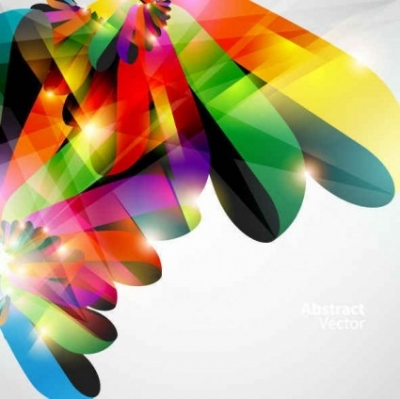 Free vector Vector background  Bright colorful dynamic lines Background