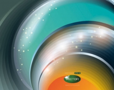 Free vector Vector background  brilliant dynamic halo background 01 vector
