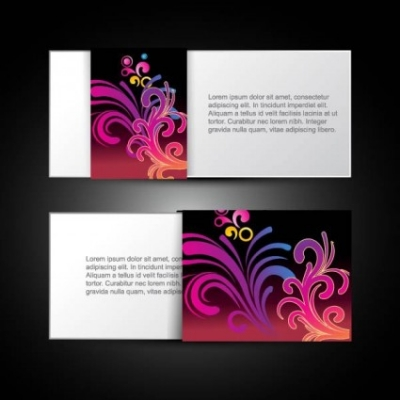 Free vector Vector pattern  brilliant dynamic pattern card 04 vector