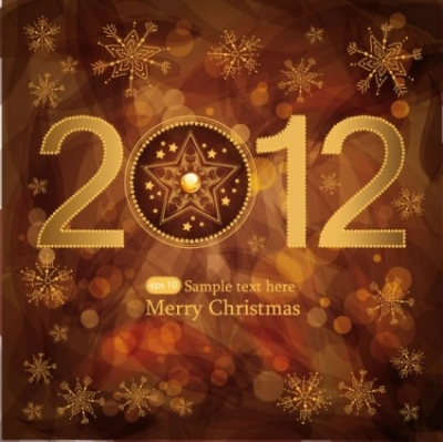 Free vector Vector background  brown gorgeous christmas background 01 vector