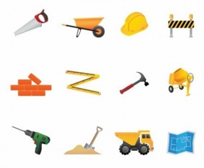 Free vector Vector icon  Building and Construction Tools Vector Icon Set