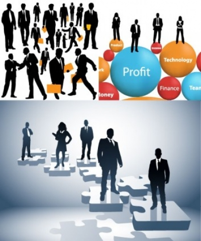Free vector Vector people  business people silhouette vector