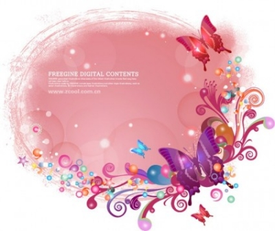 Free vector Vector background  butterflies and colorful background pattern vector