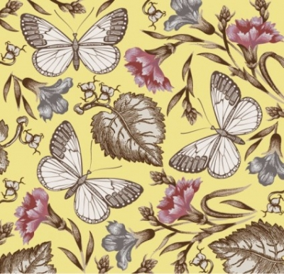 Free vector Vector floral  butterfly floral 01 vector