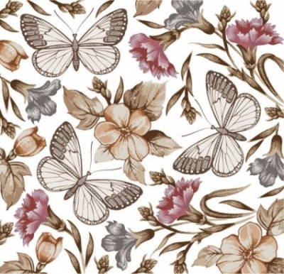 Free vector Vector floral  butterfly floral 04 vector