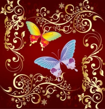Free vector Vector flower  butterfly Flowers vector