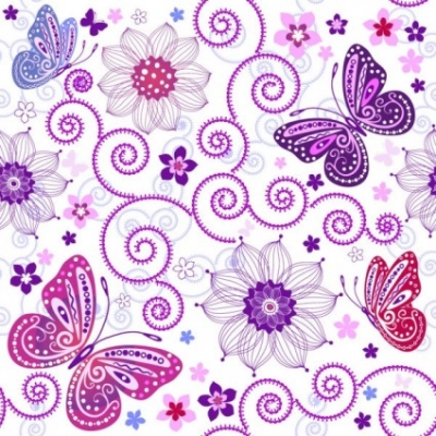 Free vector Vector background  butterfly pattern background 01 vector