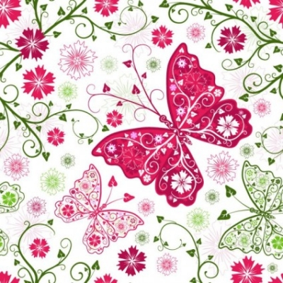 Free vector Vector background  butterfly pattern background 02 vector