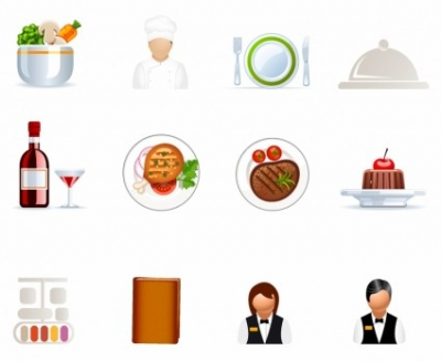 Free vector Vector icon  Cafe and Restaurant icons