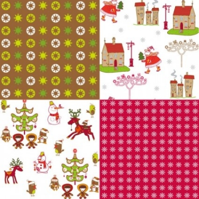 Free vector Vector background  cartoon christmas background 02 vector