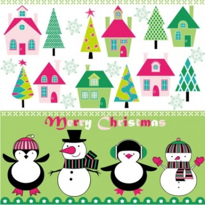 Free vector Vector background  cartoon christmas background 03 vector