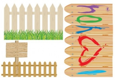 Free vector Vector cartoon  cartoon clip art fence