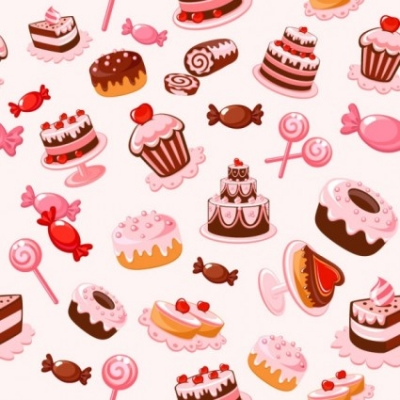 Free vector Vector background  cartoon dessert background 01 vector