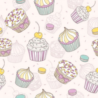 Free vector Vector background  cartoon dessert background 02 vector