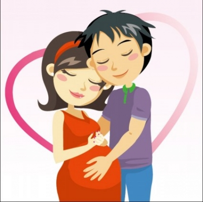 Free vector Vector cartoon  cartoon expectant mothers 03 vector