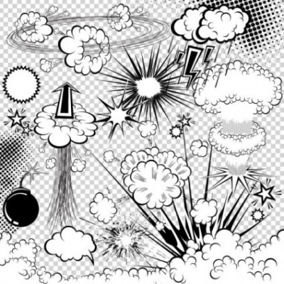 Free vector Vector pattern  cartoon explosion pattern 03 vector