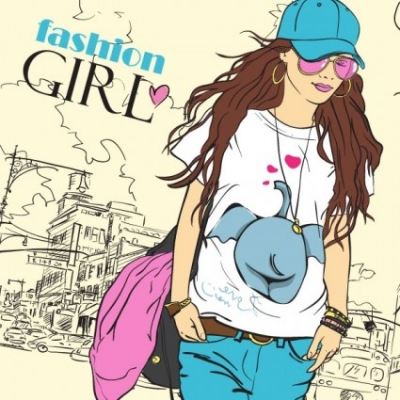 Free vector Vector cartoon  cartoon fashion beauty 02 vector