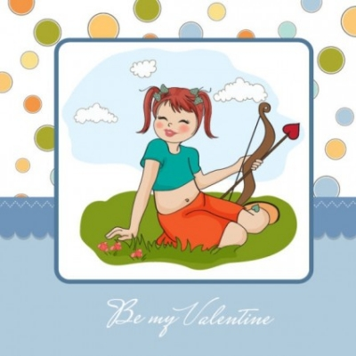 Free vector Vector cartoon  cartoon girl card 01 vector