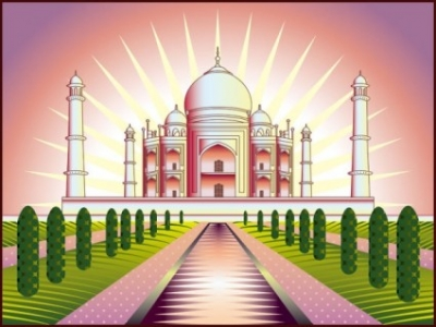 Free vector Vector cartoon  cartoon landmark 04 vector