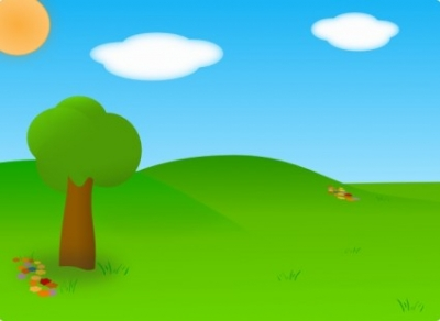 Free vector Vector clip art  Cartoon Landscape clip art