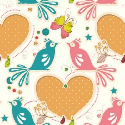 Free vector Vector pattern  cartoon love birds pattern 05 vector