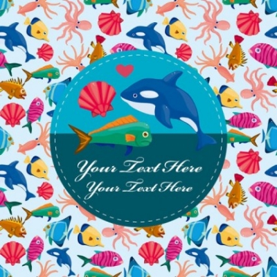 Free vector Vector cartoon  cartoon marine life vector