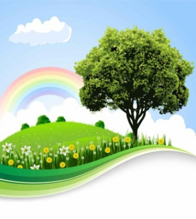 Free vector Vector background  cartoon natural landscape vector background