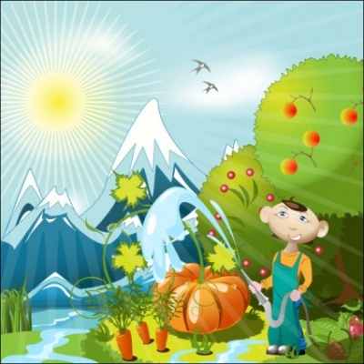 Free vector Vector cartoon  cartoon orchard 01 vector