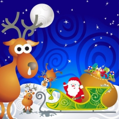 Free vector Vector cartoon  Cartoon Santa Vector Illustration