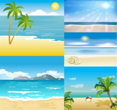 Free vector Vector cartoon  cartoon seaside landscape vector