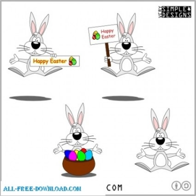Free vector Vector cartoon  Cartoon Style Easter Bunny