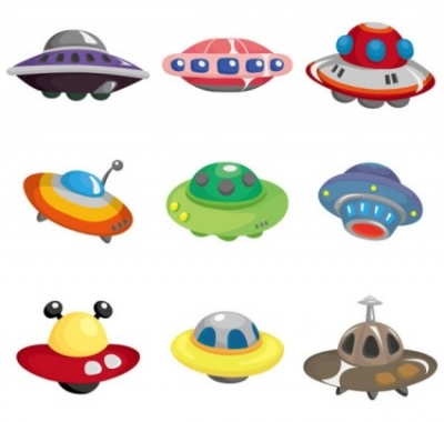 Free vector Vector cartoon  cartoon ufo 01 vector