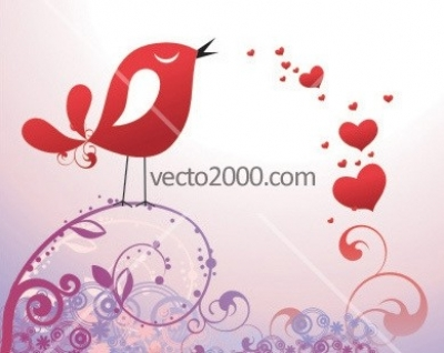 Free vector Vector Heart  chirp Valentine's Day