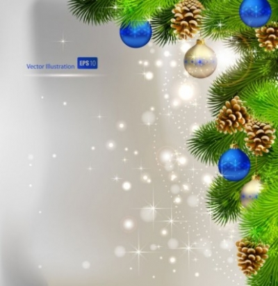 Free vector Vector background  christmas background ball beautiful 01 vector