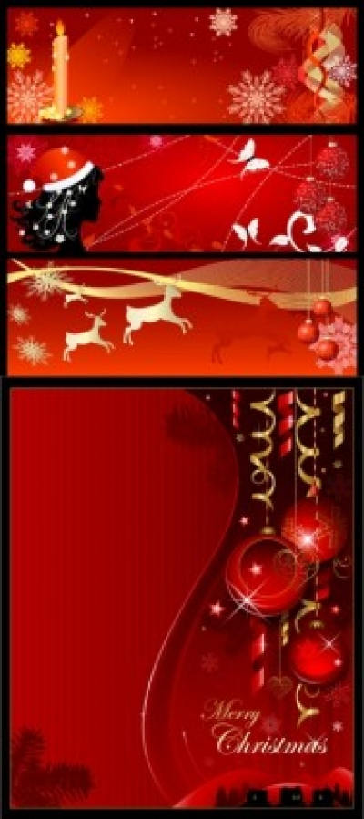 Free vector Vector banner  christmas background banner vector