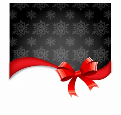 Free vector Vector Christmas  Christmas Background with Bow
