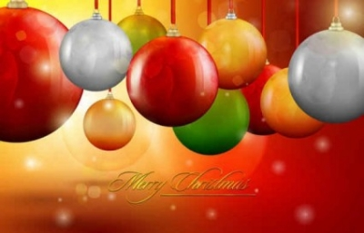 Free vector Vector background  Christmas ball background