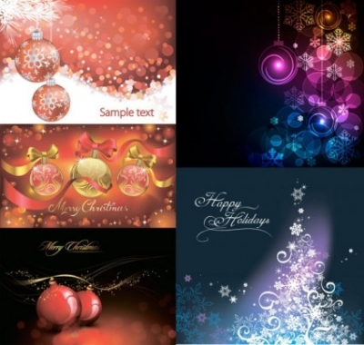 Free vector Vector background  christmas ball with colorful background vector