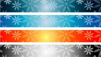 Free vector Vector banner  Christmas Banner Backgrounds 728×90
