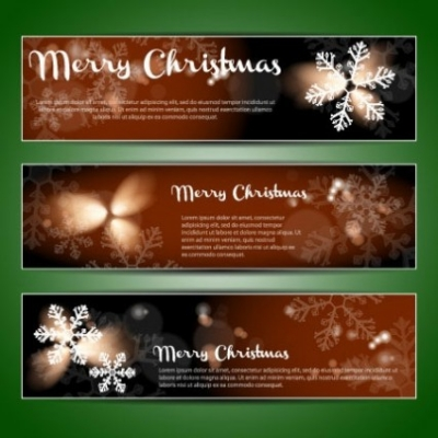 Free vector Vector banner  christmas banners 01 vector