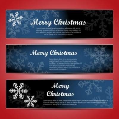 Free vector Vector banner  christmas banners 02 vector