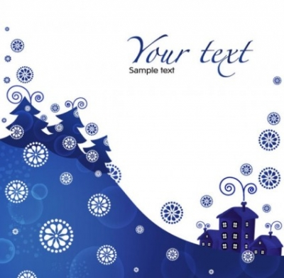 Free vector Vector background  christmas blue background 01 vector