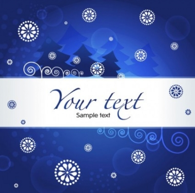 Free vector Vector background  christmas blue background 03 vector