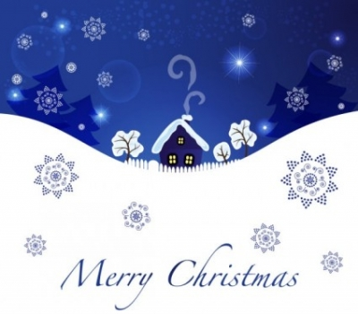Free vector Vector background  christmas blue background 04 vector
